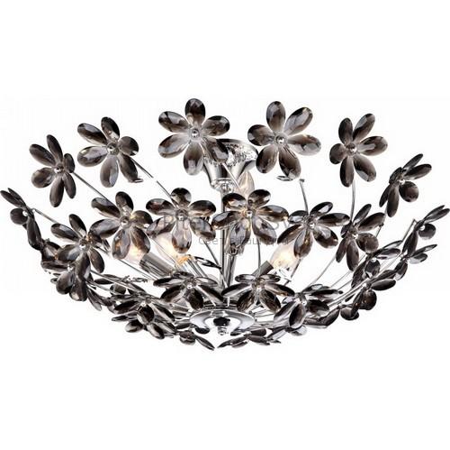 Люстра чёрные цветы 51412 6 arlene globo
